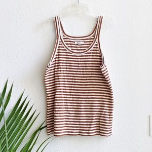 madewell / Audio Tank Top Jodi Stripe L